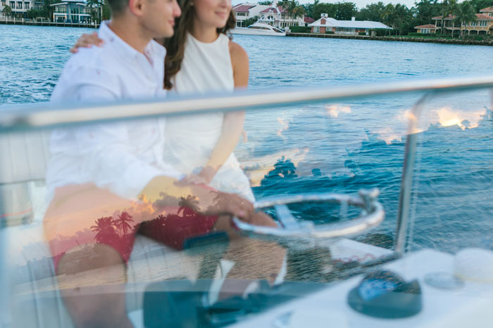 Engagement on the boat