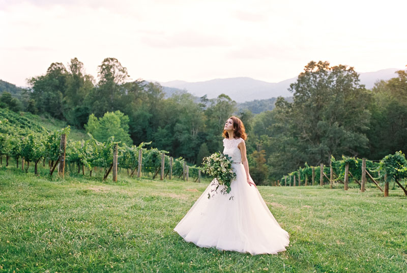 Vineyard Wedding Inspiration Contax 645 Fuji 400H
