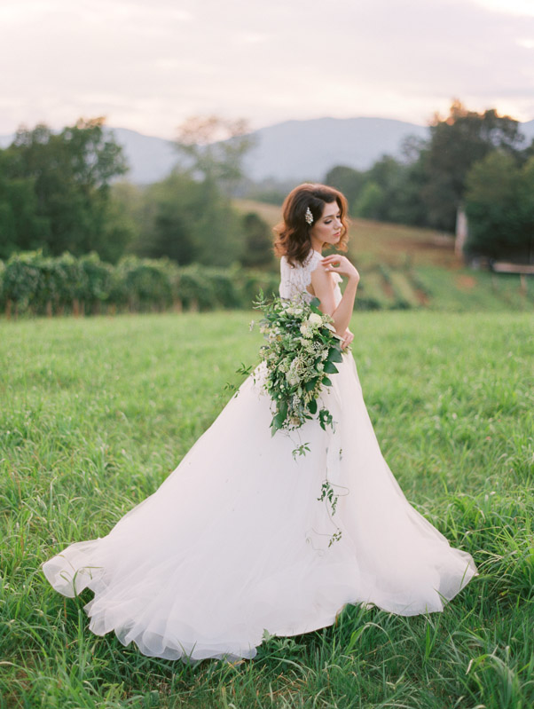 Blue Ridge wedding inspiration Contax 645 Fuji 400H