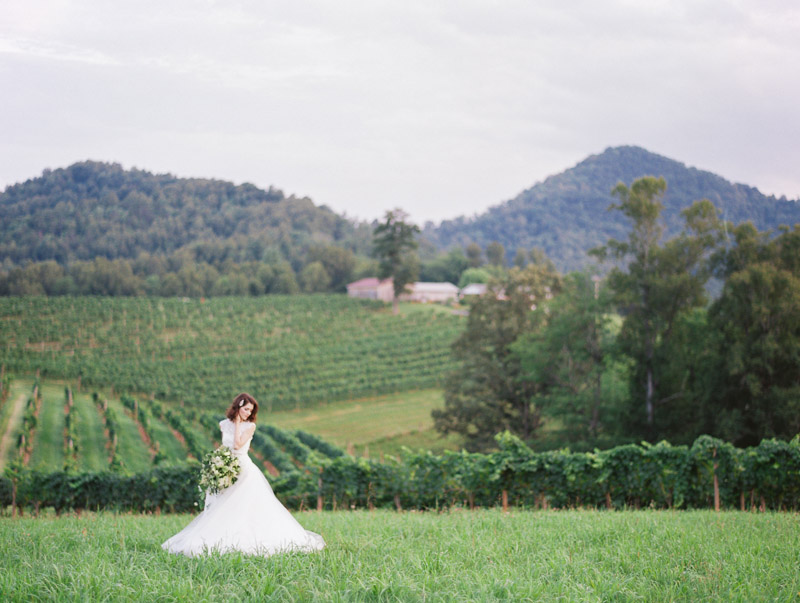 Asheville wedding photographer Contax 645 Fuji 400H