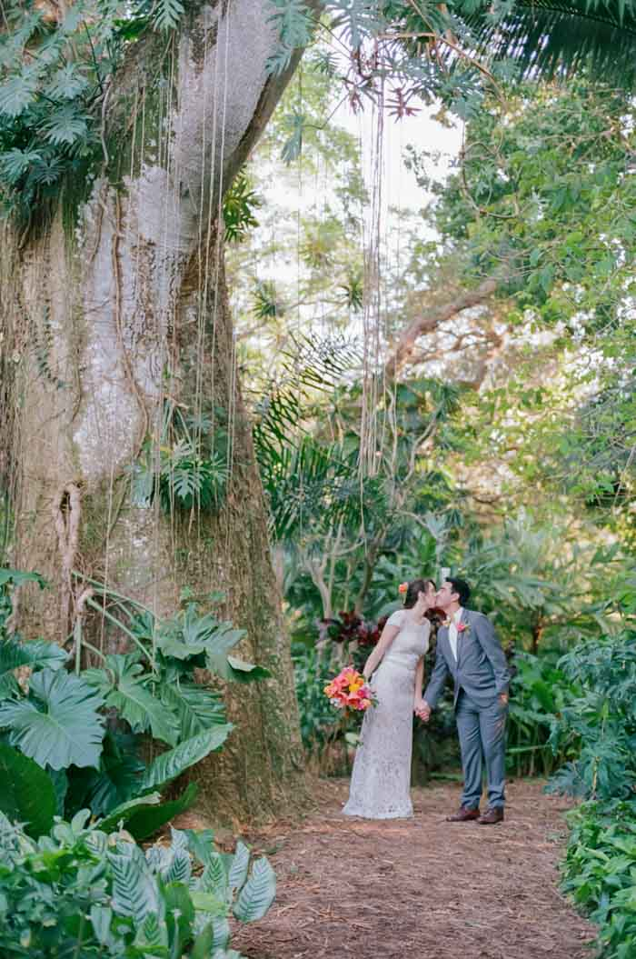Flamingo Gardens Wedding Portra 800
