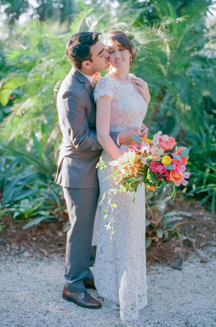 Flamingo Gardens Wedding Portra 800