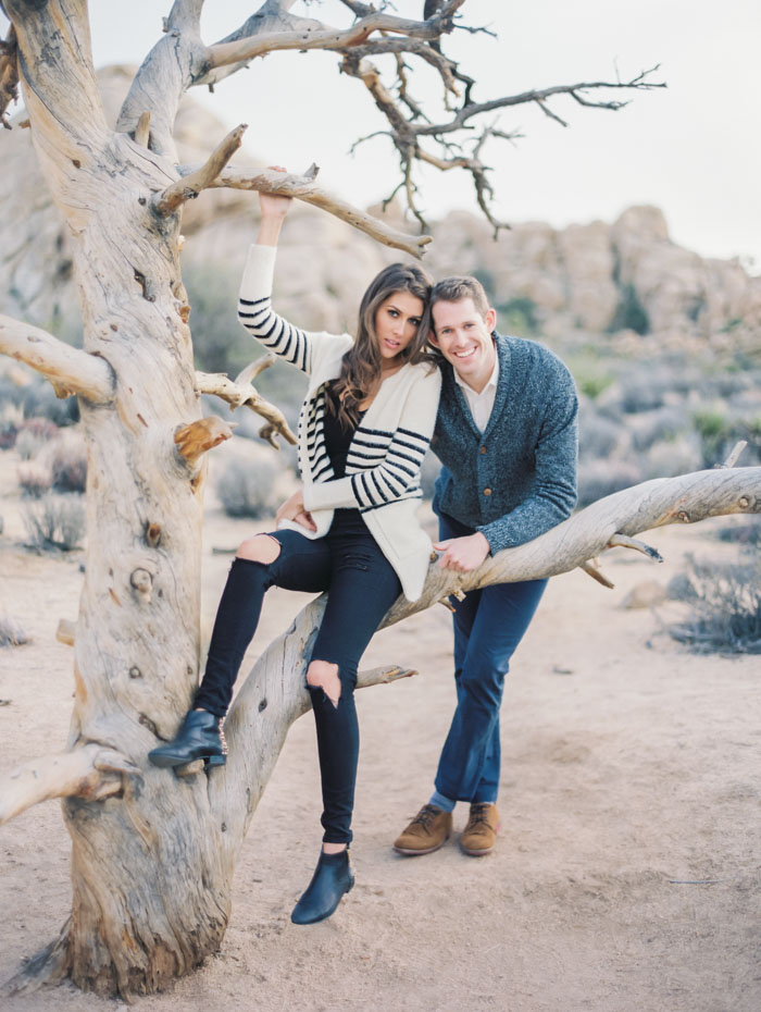 Joshua Tree Engagement Contax 645 Fuji 400H