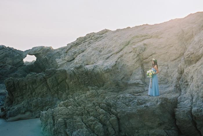 Malibu Wedding Photographer Contax 645 Fuji 400H