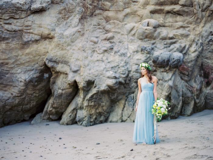 Malibu Beach Wedding Inspiration Contax 645 Fuji 400H