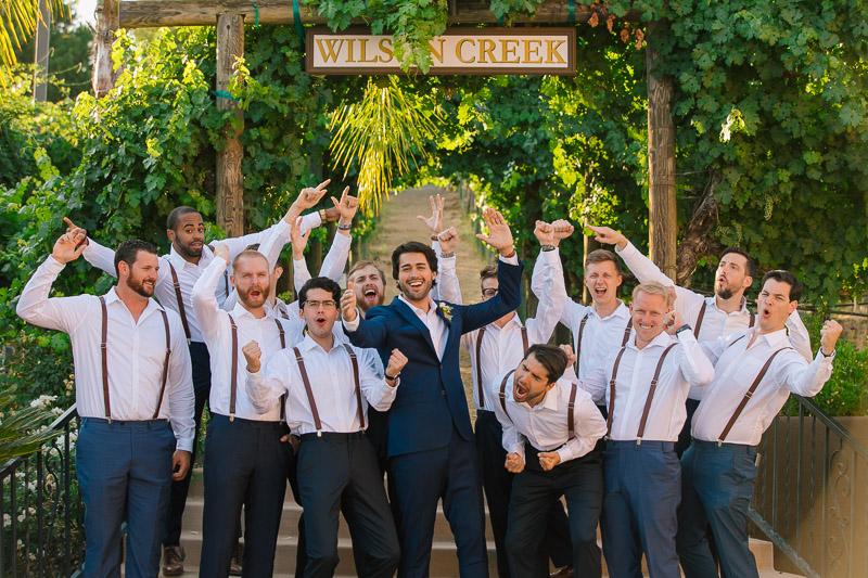 happy groomsmen