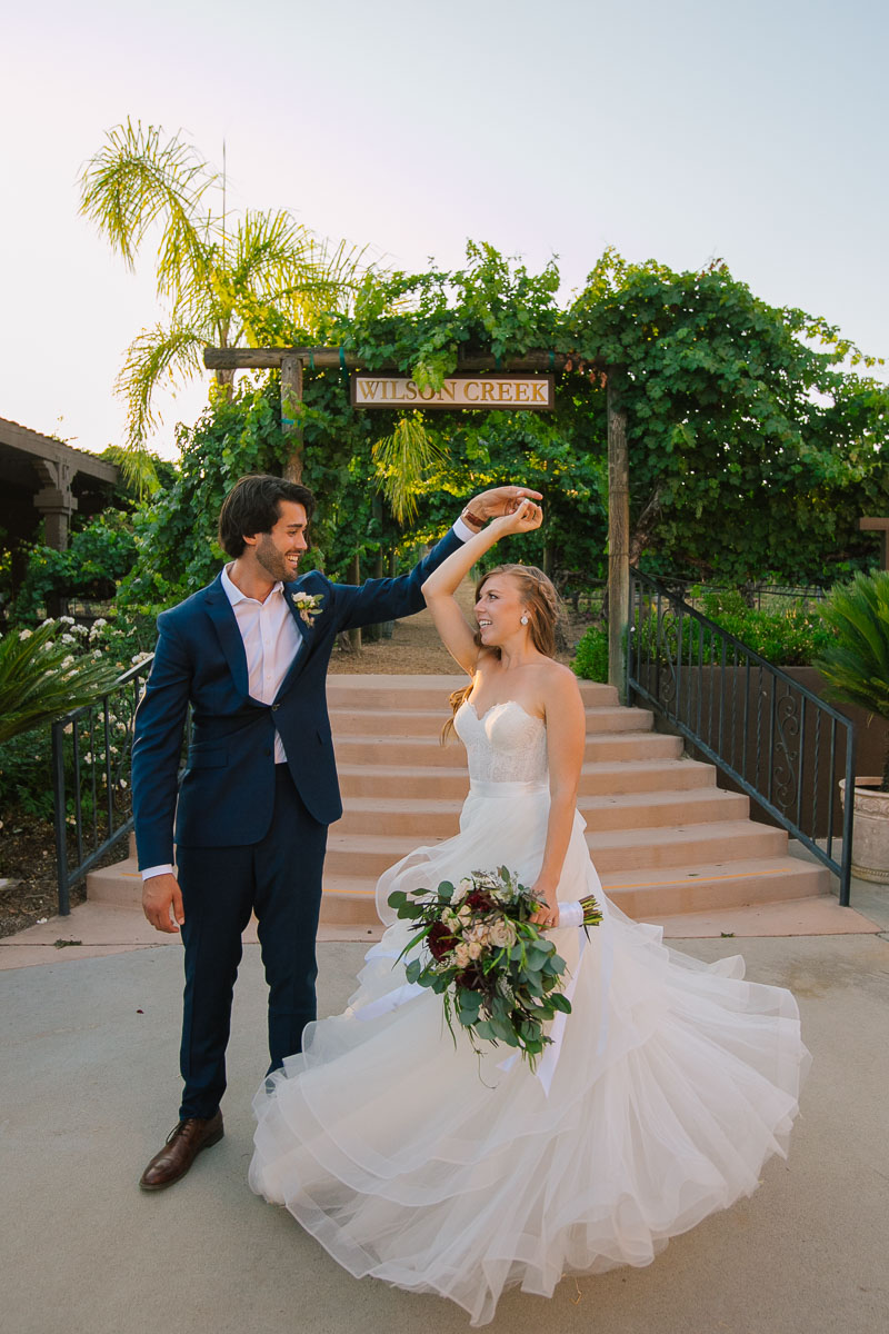 California winery wedding