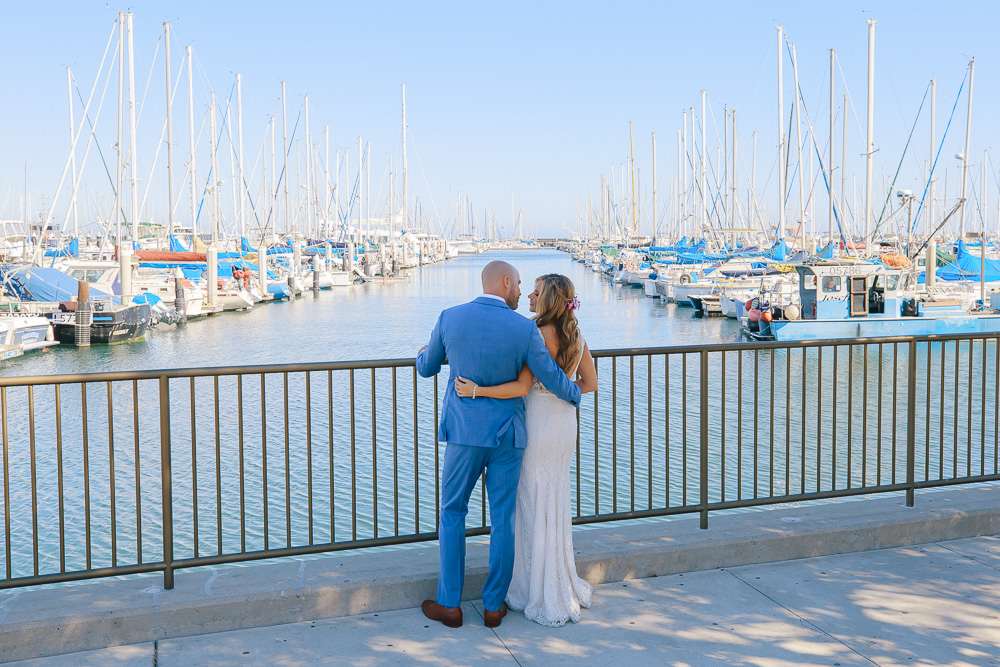 Santa Barbara boat wedding